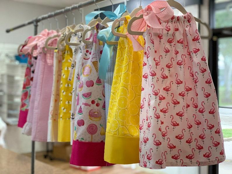 Girls dress pillowcase dress with monogramming image 0