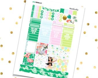 ALOHA Personal Kit // Printable Planner Stickers / Erin Condren Kikki K Filofax Recollections Color Crush Summer Vacation Hawaii