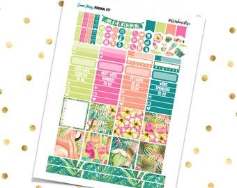 SUMMER GETAWAY Personal Kit // Printable Planner Stickers/Erin Condren Kikki K Filofax Recollections Color Crush Tropical Island