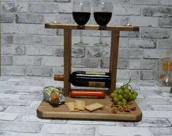 Wine Rack Cheese Board Wedding Gift Kitchen Storage Etsy
