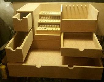 Craft Storage,artists storage,make up storage,desk storage,craft station,paper storage