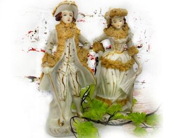 French Porcelain Figurines  , Lace figurine , collectible Figurines , Porcelain Cake Topper , collectible Porcelain figurine , # 21