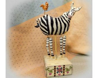 Zebra figurine - Zebra decoration -Zebra decor - novelty tea light holder - wildlife decor - Zebra home decor -Tea light Holder # 18