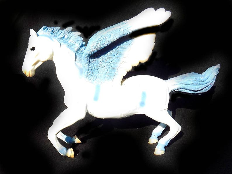 Magical Fantasy Creature Magic Winged Horse Pegasus Horse Children S Gift Horse Gift Collectible Horse Upcycled 15