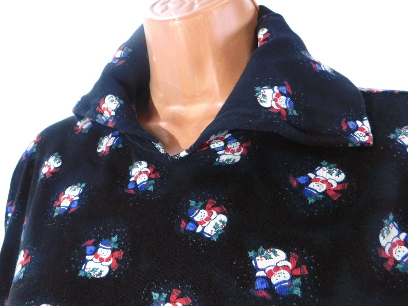 Christmas clothing women shirt Holiday clothing turtleneck,# 4 vintage snowman clothing Christmas turtleneck-black turtleneck