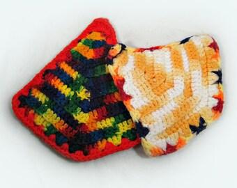 handmade pot holder -Crochet hot pads , ,Vintage potholders  ,    crochet pot holder ,  kitchen potholder, # 10