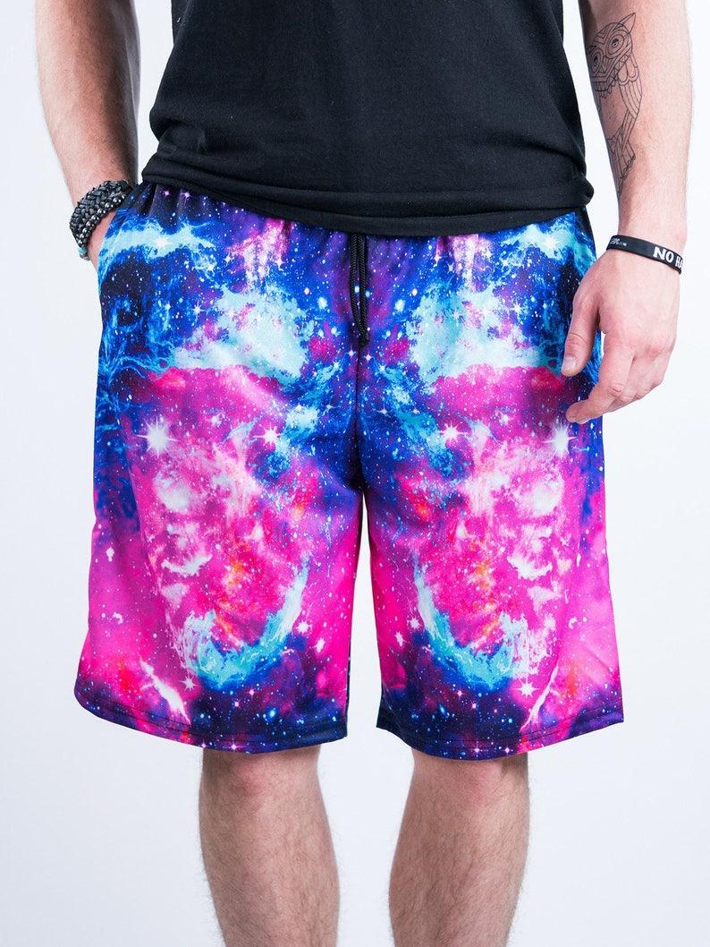 bb29b9e465 Galaxy 2.0 Shorts Men's Shorts Festival Shorts Mens | Etsy