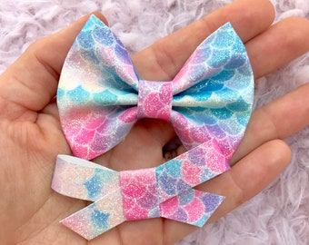 mermaid cove glitter brooke or madison bow
