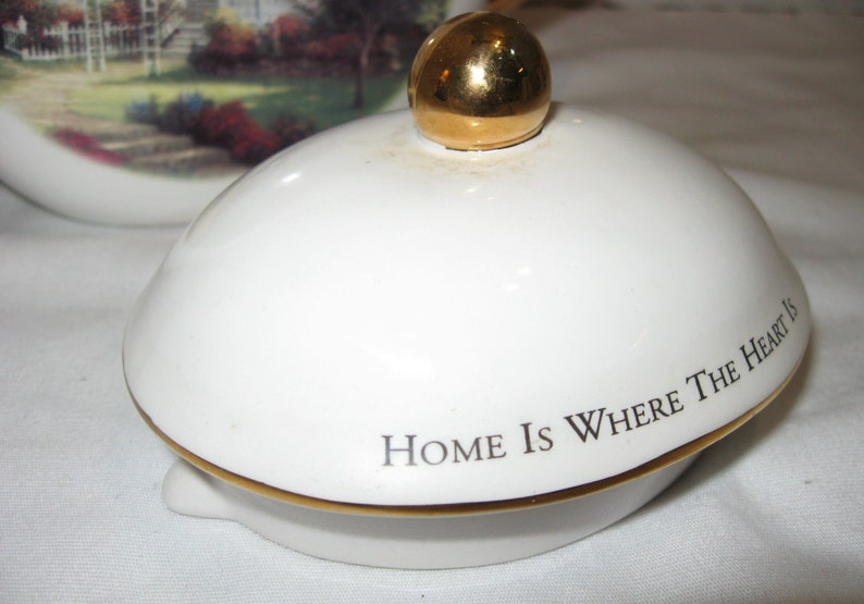 1980s Vintage Thomas Kinkade Teleflora Teapot Home is Where the Heart Is 6 x 94-cup Capacity