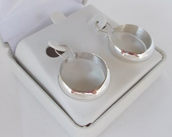 Sterling Silver .925 Dangle Hoop Earrings