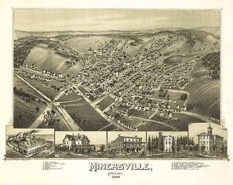Map of Point Marion Pennsylvania; 1902; Antique Birdseye Map