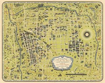 Tucson arizona map | Etsy