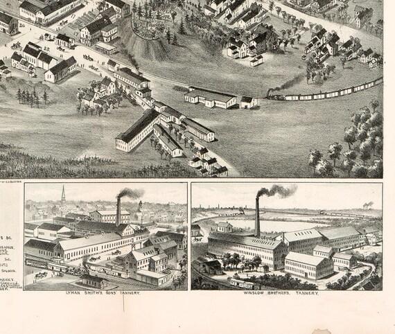Pensacola Florida 1885 Historic Panoramic Town Map 24x32