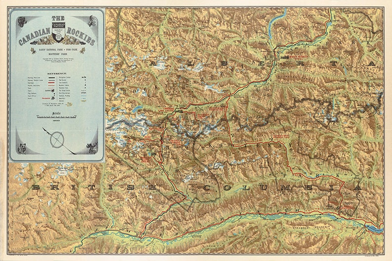 Canadian Rockies Map on
