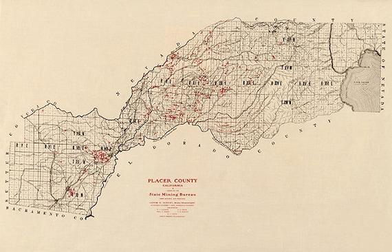 Placer County map, California CA 1902. California State Mining Bureau. on petaluma ca map, anchor bay ca map, ca central map, counties in ca map, ca map with cities, ca agriculture map, socal cities map, ca msa map, ca congressional district map, ca zip map, sunol ca map, co ca map, ca metro map, newman ca map, north bay area ca map, mcfarland ca map, napa ca map, ca regional map, ca world map, ca city map,