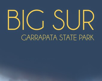 Garrapata State Park / Big Sur Poster / Big Sur California / Above Bed Decor / Seaside Decor / California Artwork / Inspiring Wall Art