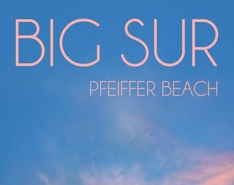 Big Sur Poster / Big Sur California / Above Bed Decor / Home Decore / Seaside Decor / California Artwork / Wall Decore / Inspiring Wall Art