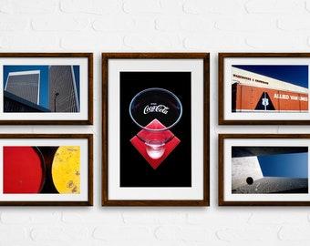 Colorful Graphics / Wall Decore / Geometric Photo / Visionary Art / Set of 5 Photos / Zen Photography / Boho Photography / Esoteric Art