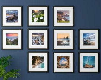 Big Sur Photography / California Coast Art / Rustic Artwork / Set of 10 Prints / Cheap Kitchen Decor / Photo Collection / Pfeiffer Beach