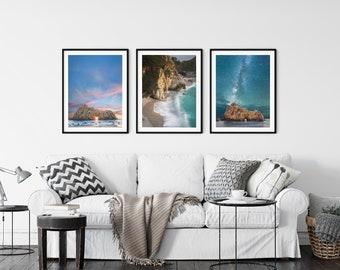 Pfeiffer Beach / Big Sur Photography / Starry Night Photo / California Coast Art / Set of 3 Photos /  McWay Falls / Above Bed Decor