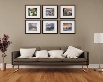 Big Sur Photography #1 / California Coast Art / Visionary Art / Set of 6 Photos / Bixby Bridge Photo / Pfeiffer Beach / Calla Lily Flower
