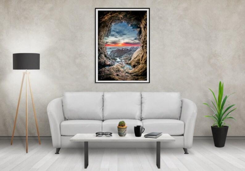 Cave Photography / Home Decore / Big Sur California / West image 0