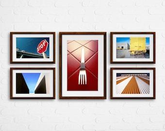 Visionary Art / Minimal Photography / Esoteric Art / Boho Photography / Set of 5 Photos / Photo Graphics / Zen Photography / Geometric Photo