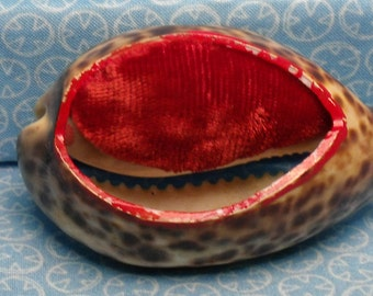 Victorian Shell Pin Cushion, Hand Crafted