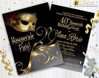 Venetian Mask Invite