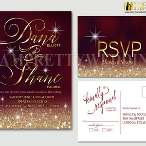 Programs Downloadable Ombre Chevron Wedding Invitations Place Cards Table Numbers: I Design Menus Save the Dates