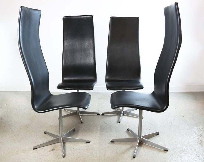 Set of Four ARNE JACOBSON for Fritz Hansen OXFORD chairs