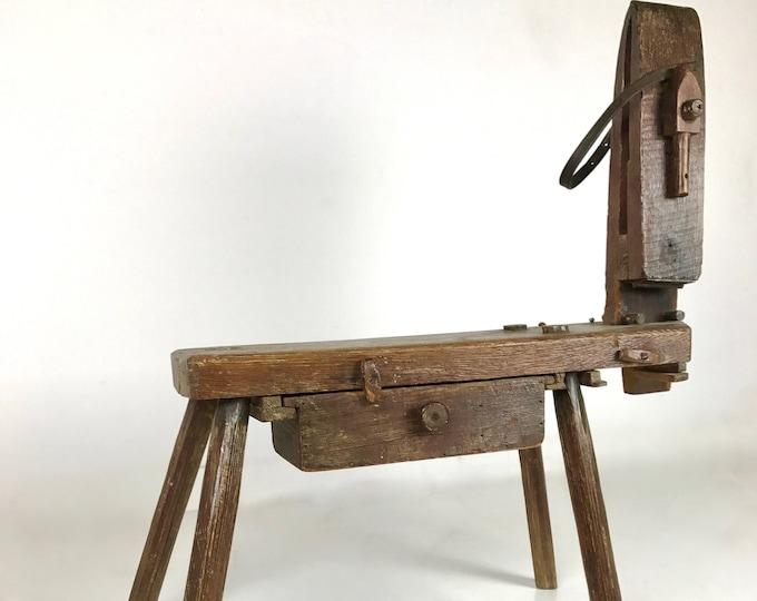 Mid Century Modern Primitive ANTIQUE Wooden ARTISAN Child's HORSE