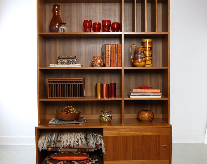 DANISH MODERN Teak Wall Unit by DOMINO Mobler