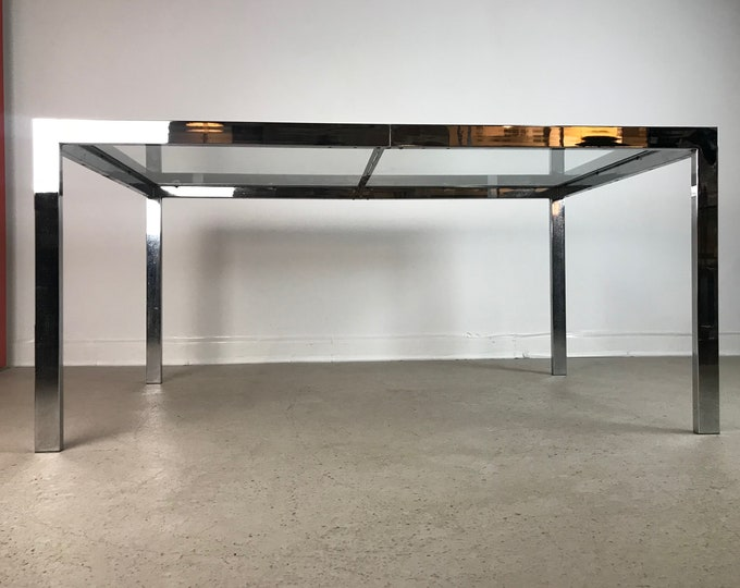 Mid Century Modern MILO BAUGHMAN for DIA Expandable Chrome Dining Table