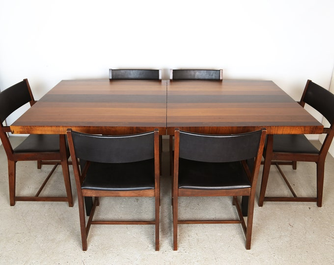 Mid Century Modern MILO BAUGHMAN PLANK Expandable Dining Set for Directional