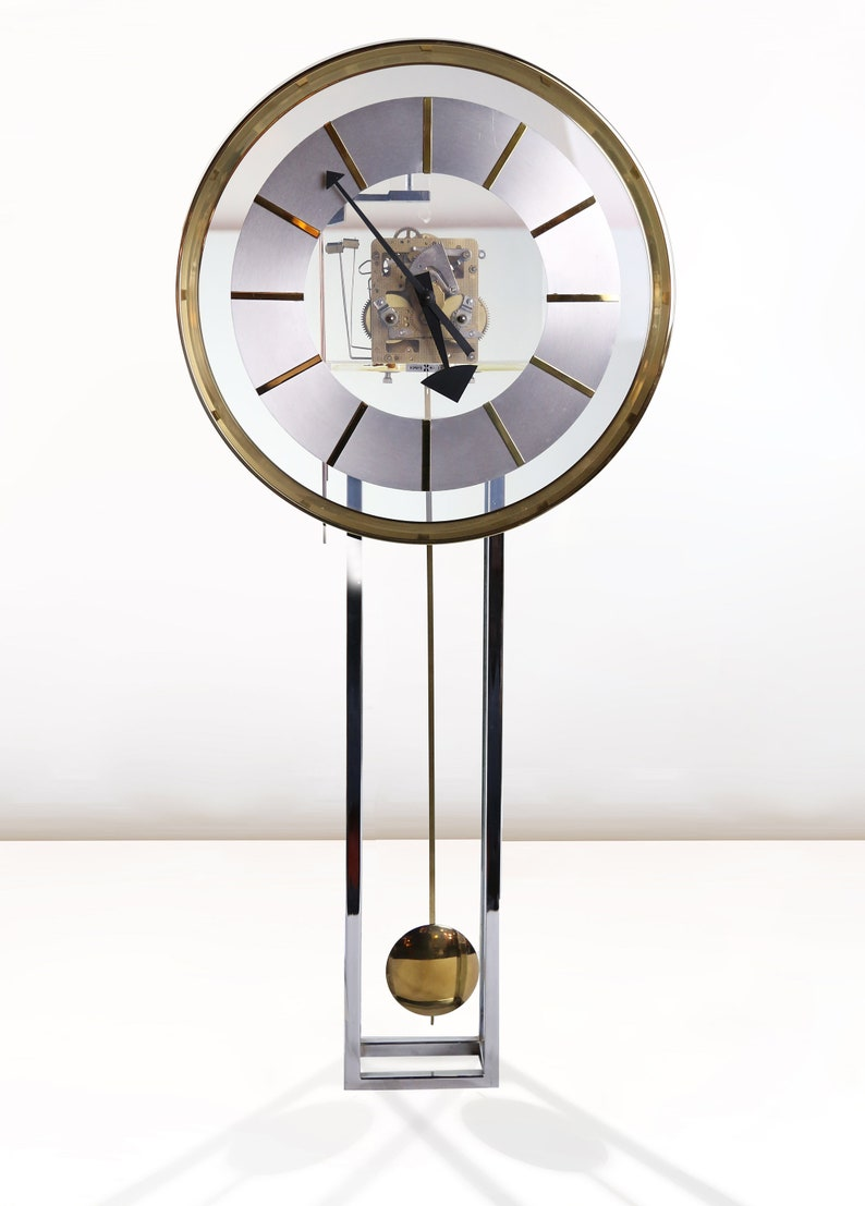 GEORGE NELSON for Howard Miller LUCITE And Brass Wall Clock