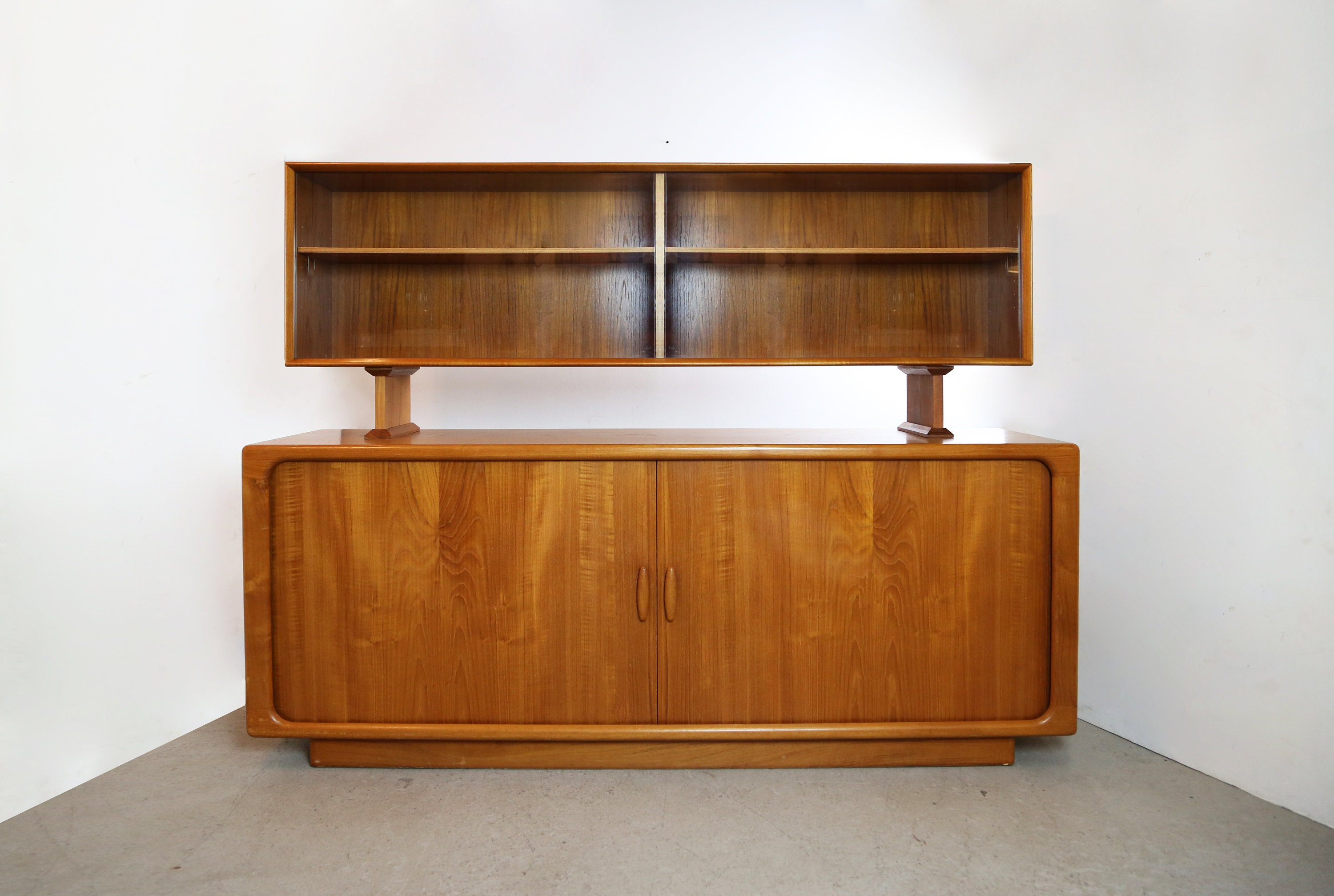 Danish Credenza Hutch : Teak credenza and china hutch by dyrland of denmark