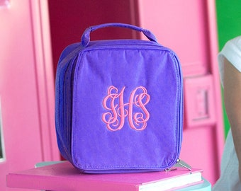 Monogram Lunch Box, Personalized Lunchbox, Monogram Lunch Bag, Childrens Lunch Box, Gifts For Girls, Insulated Lunch Box, Back To School