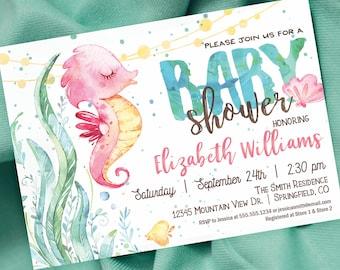 Ocean baby shower invitations etsy popular items for ocean baby shower invitations filmwisefo