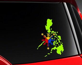 Philippinische Philippinische Flagge Vinyl Auto Aufkleber Etsy