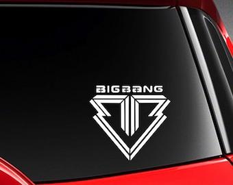 "Kpop Idol Big Bang Vinyl Car Decal Sticker 5.5"" (h)"