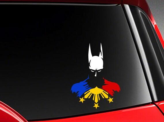 "Filipino Basketball Vinyl Car Decal Sticker  5/"" w//  Philippine Flag H"