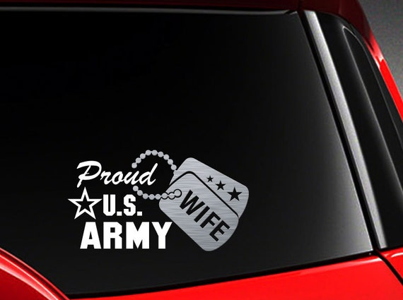 US Army Wife Vinyl Decal