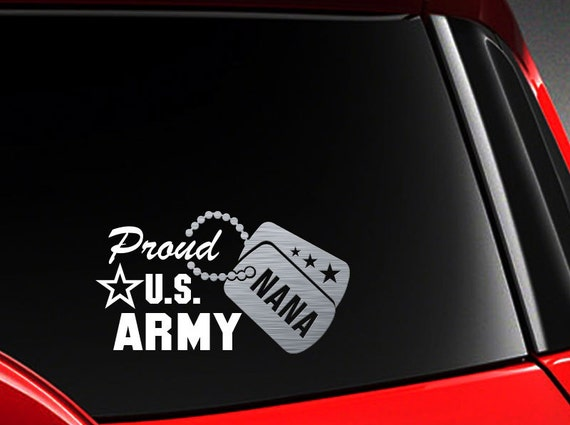 Proud Army Son Seal Vinyl Car Window Decal Bumper Sticker US Seller