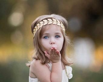 eee758f98 Bohemian headband - gold leaf headband - boho headband - newborn headband -  baby girl headband - baby headband - toddler headband