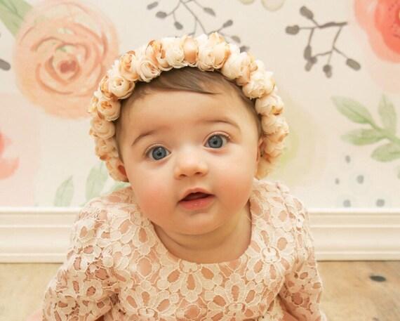 Baby floral crown flower girl crown newborn floral crown  851b56ccd1b