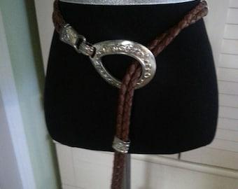 Vintage western belt, vintage leather belt, vintage western leather belt. A9