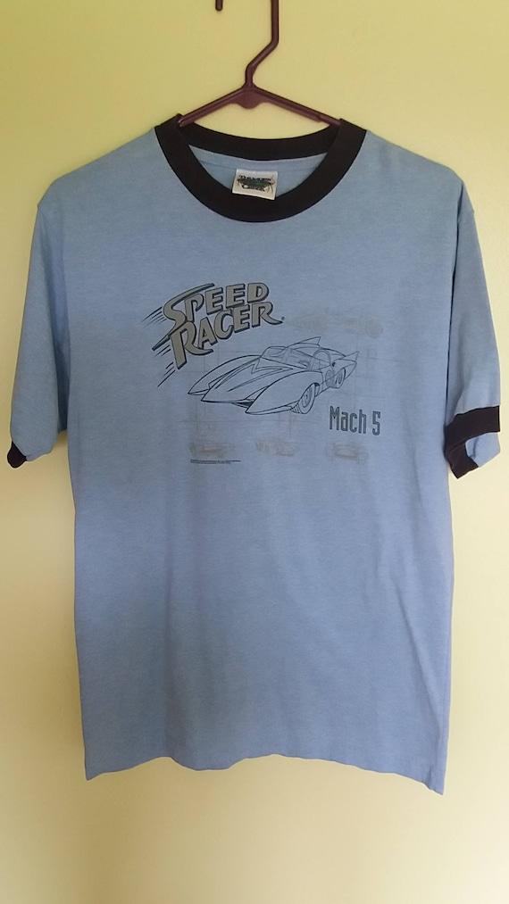 Speed racer T shirt, speed racer shirt, blue T shirt, blue shirt, speed racer,A11