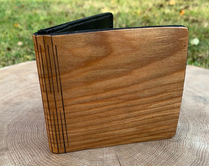 Cherry Royal wallet | Men's wallet | Handmade wallet | Wooden wallet | Handmade men's wood wallet | Unique wallet | Gift for him |