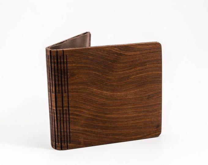 Men's wallet | Handmade wallet | Wooden wallet | Handmade men's wood wallet | Brown wallet | Black wallet | Unique wallet | Gift for him